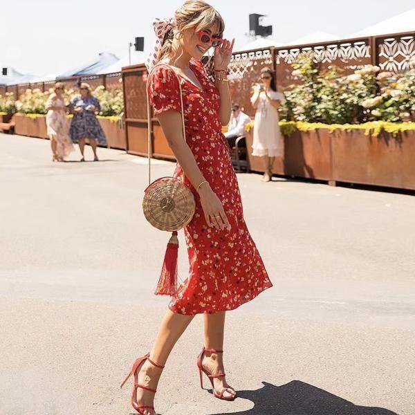 Alora Floral Midi Dress