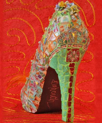 Mosaic shoe!  If you ever see me in a heel this high - I promise I will be sporting something as interesting as this!