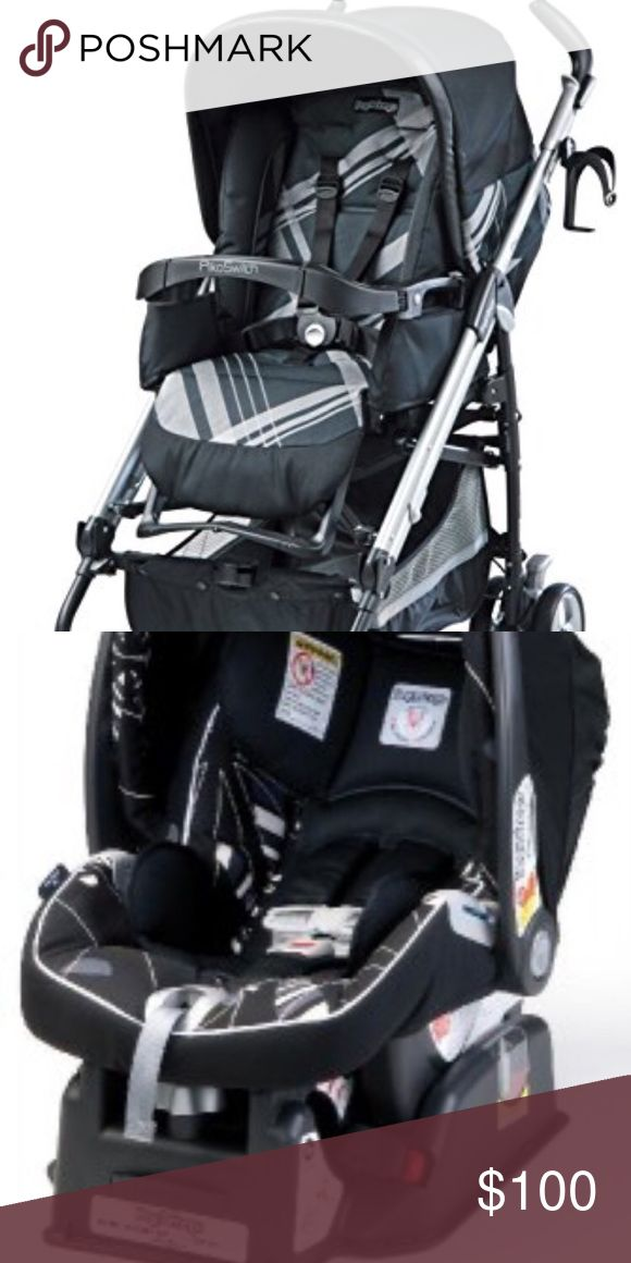Peg Perego Infant carseat w/ base + stroller. 2010 Peg Perego Infant carseat with base and stroller. Discontinued. Bought in 2010 for our first child. Fabric intact. Get all 3 for one price! Peg Perego Other