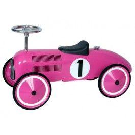 Fuchsia Pink Classic Metal Ride on Car