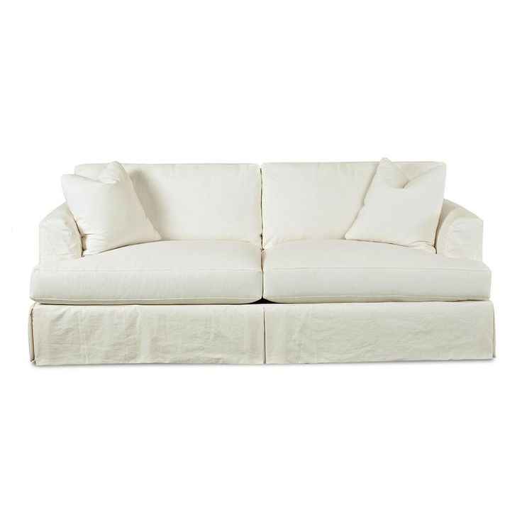 Leather Sleeper Sofa Draped in pure fort the Melissa slipcover collection showcases chic styling Bordered back cushions and bordered T seat cushions are filled with down
