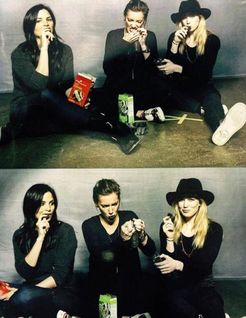 Caity Lotz, Katie Cassidy & Katrina Law