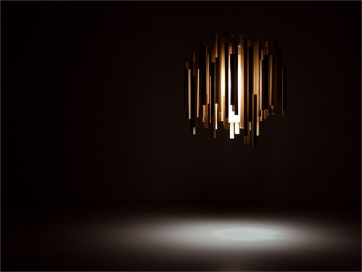 Direct-indirect light wooden pendant lamp Woods Collection by Arturo Alvarez | design Hector Serrano