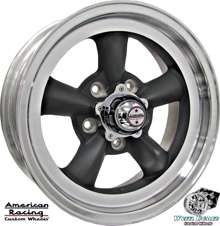 "(4) 15x6"" GRAY AMERICAN RACING TORQ THRUST D WHEELS RIMS FOR FORD MUSTANG 1968"
