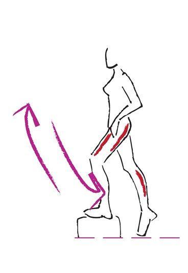 Übung für Oberschenkel und Po - Die besten Bauch-Beine-Po-Übungen - Schon mit einfachen Hilfsmitteln können Sie etwas für straffe Beine und einen knackigen Po tun. Idealerweise haben Sie zu Hause einen Step, den Sie für diese Übung benutzen...