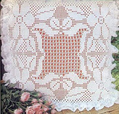 Схема вязания подушки: Heklani