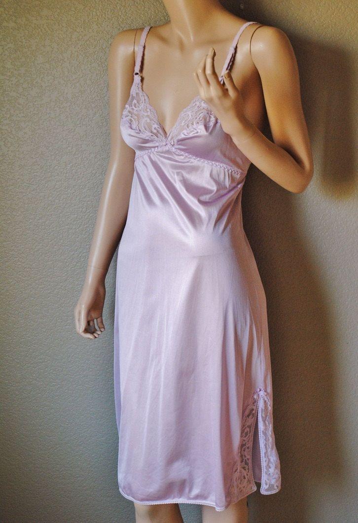 Vintage Lavender Lace Slip By Maidenform Ilgwu 34