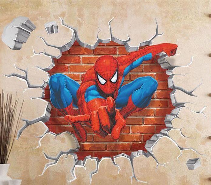 Spiderman Kids Room Decor Wall art 45*50cm