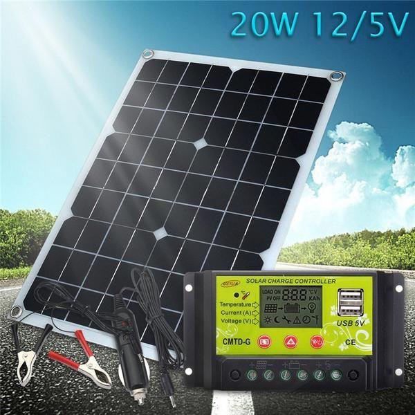 Solar Panel Save Energy Usb Module Battery Charger 20w 12v 5v Solar Cells For Phone Lighting Rv Boat 12 24v Solar Charg Solar Panels Solar Solar Energy Panels