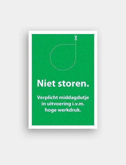 Voor een congres over de hoge werkdruk van de huisarts op de huisartsenpost heeft Studio Springstof in opdracht van Van Campen Consulting een ansichtkaart ontwikkeld met een ontwerp dat met een knipoog inhaakt op het thema.