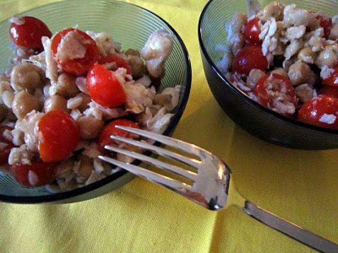 Ricetta Portata principale : Insalata di merluzzo, ceci e pomodorini da Minimau82