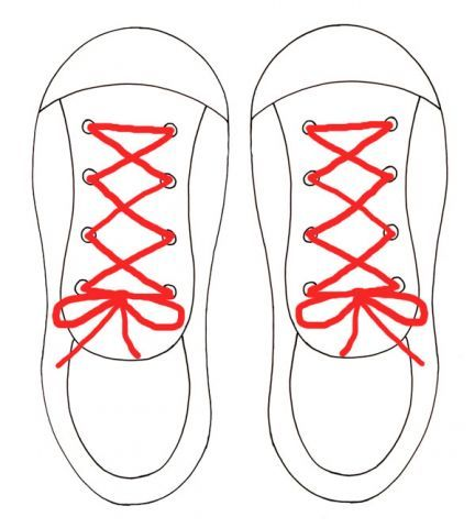 Printable lacing shoe template ... teaching tool for kids to learn to lace and tie shoes.