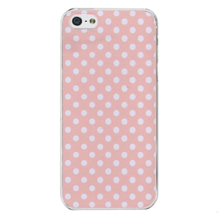 Coque iphone 5 5s rose pois blancs par the phone for Couleur rose pale