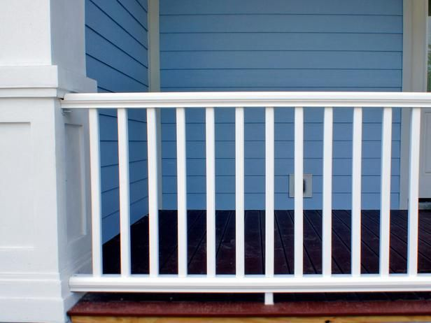 How to Install a Porch Railing : Outdoors : Home & Garden Television