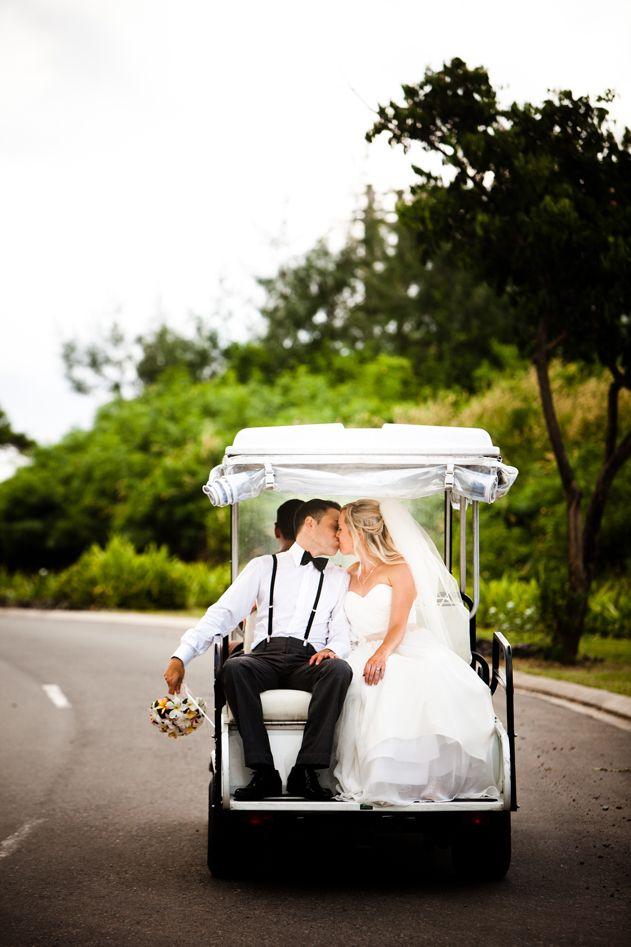ideas for beach wedding party favors%0A Escape for your  honeymoon   in a golf buggy  onlyinFiji  Fiji    Wedding  Ideas GreenBeach