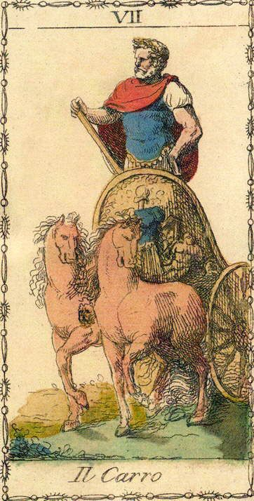 The Chariot - Ancient Tarot of Lombardy
