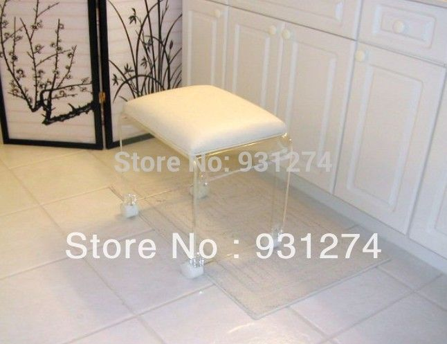 Find More Stools & Ottomans Information about Modern Acrylic Footstool Free Shipping Vanity Stool Leisure Bench Retail and Wholesale Home Furniture Patio Outdoor Furniture,High Quality stool frame,China vanity countertop Suppliers, Cheap vanity bag from TERRACE   furniture and decor(acrylic mall) on Aliexpress.com