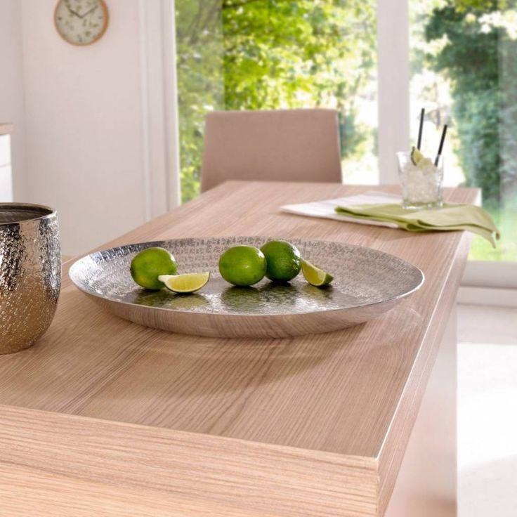 """Richtig Tisch Decken: Große Deko-Schale """"Alu"""""""