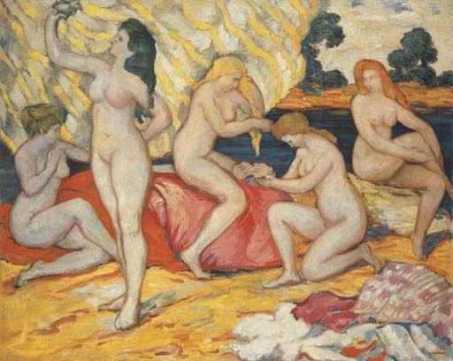 Les baigneuses, 1906, by Louis Valtat