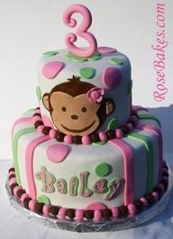 Pink Mod Monkey Cake