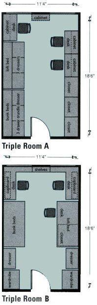 Ashton Hill Triple Room Layouts @ Seattle Pacific University