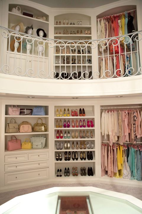 Emma Roberts's character's closet on Scream Queens.: