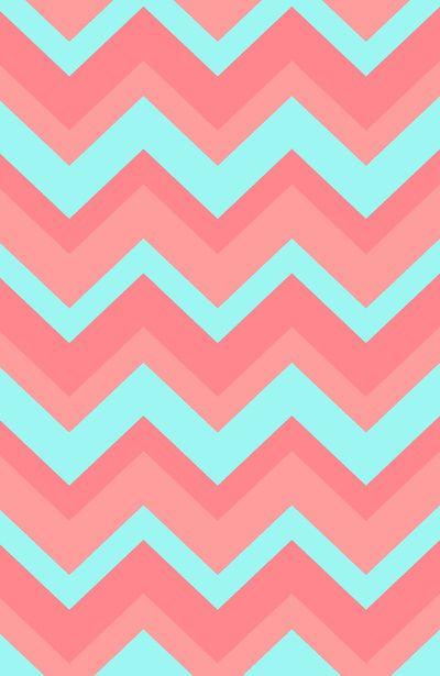 Pink Chevron Wallpaper   Chevron pattern light pink and blue Art Print