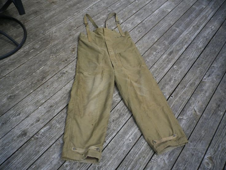 Vintage US Navy USN Foul Weather Flight Deck Pants Coveralls Size Medium WWII | eBay