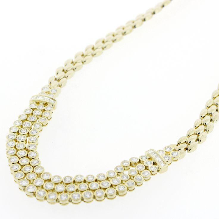 "K18 GOLD DIAMOND 9.14ct NECKLACE[Price]JPY798,000 *Approximately US $7,162.85[Conditon]""EXCELLENT pre-owned condition"""
