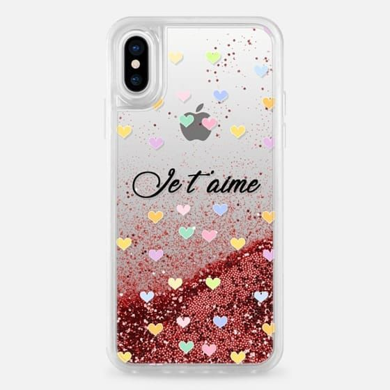 timeless design bbd80 a2044 Casetify iPhone X Liquid Glitter Case Love you Je t'aime case by ...