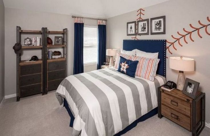 60+ Amazing Cool Bedroom Ideas For Teenage Guys Small ... on Teenage Room Colors For Guys  id=99793