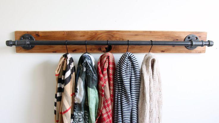 Industrial scarf hanger, belt rack, retail display rack, clothing rack, scarf holder, clothing storage, clothing display, industrial storage by Hisbrand on Etsy