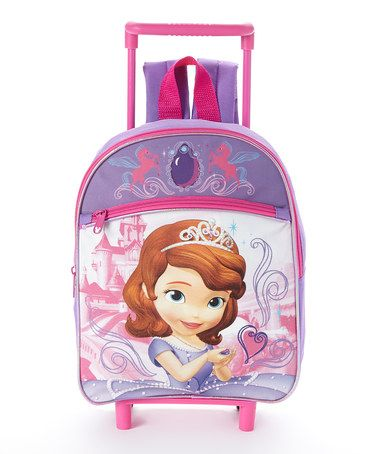 Another great find on #zulily! Sofia the First Rolling Backpack #zulilyfinds