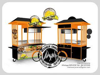 Jasa Desain Logo Kuliner |  Desain Gerobak | Jasa Desain Gerobak Waralaba: Desain Gerobak Dorong Tahu Crispy Bang Jali