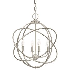 Kichler Lighting 4-Light Brushed Nickel Chandelier Lowes 129. foyer  sc 1 st  Pinterest & 45 best Kichler Lighting images on Pinterest | Chicago Cook and ... azcodes.com