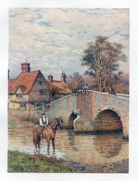 EYNSFORD BRIDGE ON THE DARENT,Kent County England