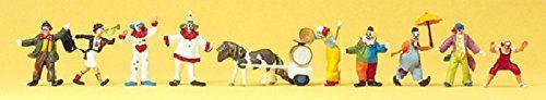 Manufacturer: Preiser Art.-No. 20258 EAN: 4041032202587 Gauge H0 1:87 Delivery Date: Q2/2015 Zirkus Clowns. Miniaturfiguren für den Zirkus im Maßstab 1:87....