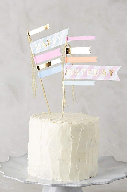 Happy Birthday Cake Flags