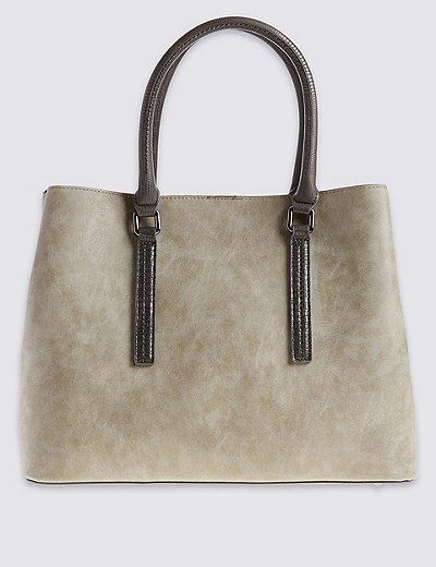 Faux Leather Soft Tote Bag   Marks & Spencer London