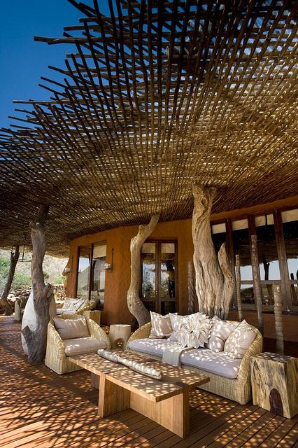 Tswalu Kalahari Reserve - Kuruman, South Africa | Webbing around the structure for keeping out sunlight/heat