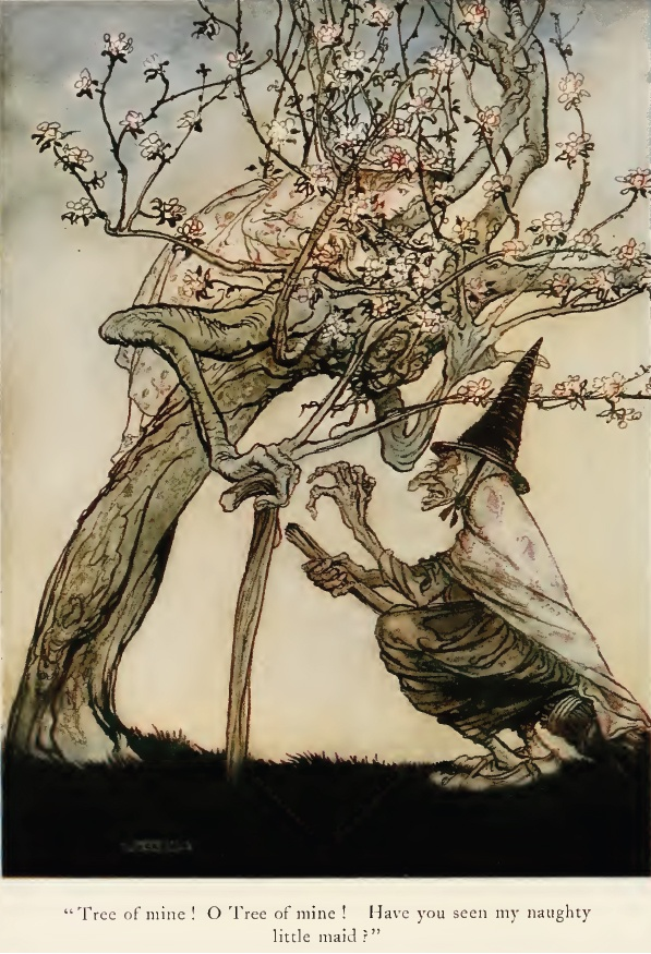 """Arthur Rackham, """"The Two Sisters"""" from English Fairy Tales, 1922"""