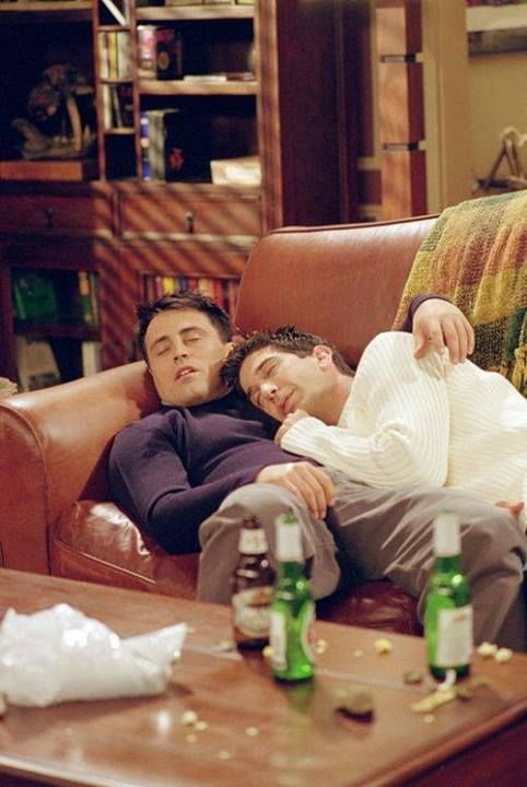 Joey and Ross. Friends. #GoodMorning