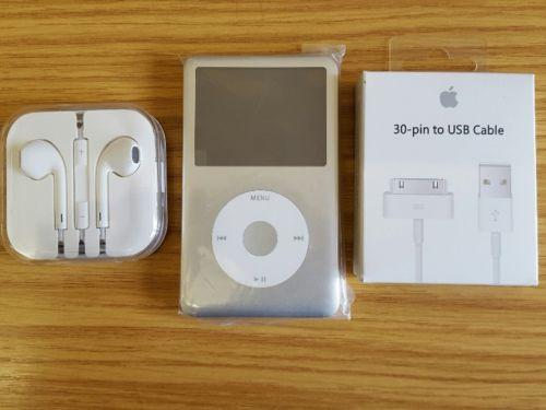 Remis-a-neuf-par-apple-ipod-classic-7eme-Generation-argent-160-Go-comme-neuf