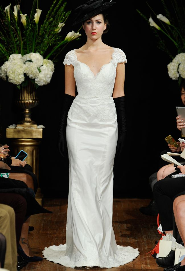 Sarah Jassir Fall 2014 lace embellished gown