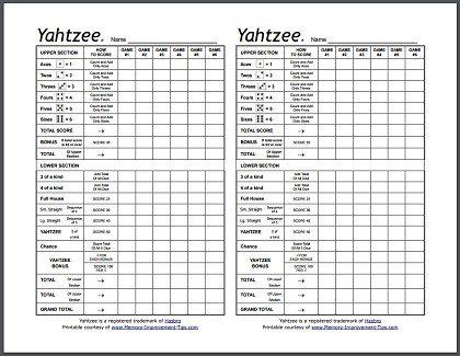 Best  Yahtzee Sheets Ideas On   Yard Yahtzee Free