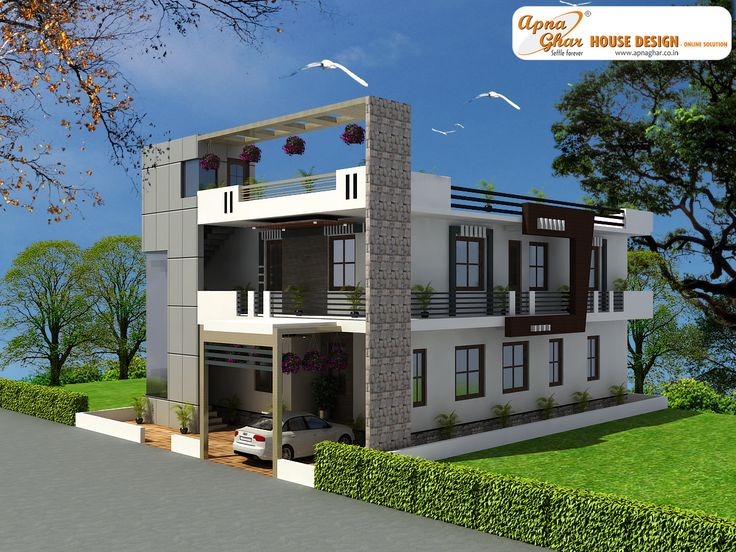4 Bedroom Modern Duplex 2 Floor House Design Area 216