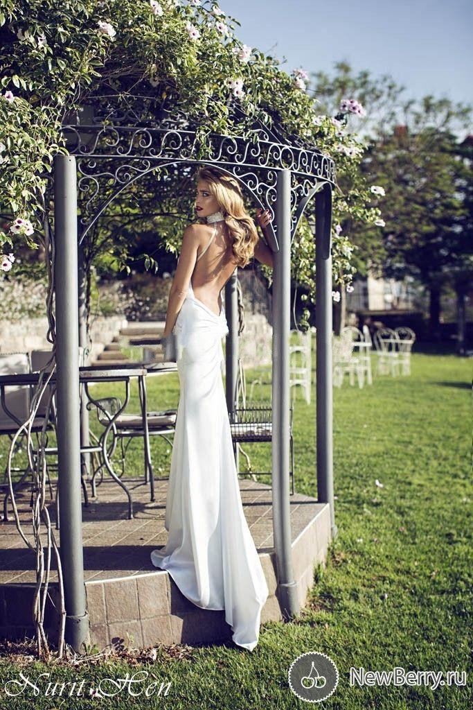 Мода Nurit курица с бисером холтер русалка свадебное платье с открытой спиной видеть сквозь шифон с свадебные платья без бретелек ZY1188