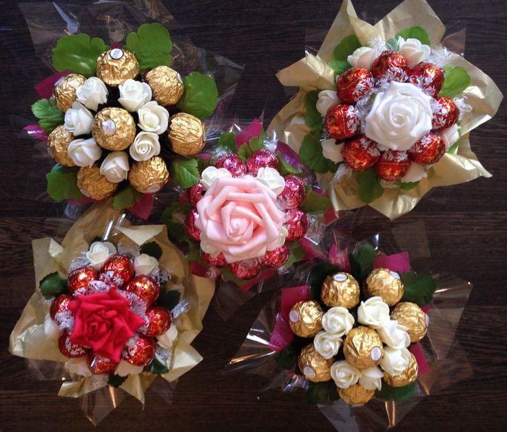 Mini ferrero rocher & Lindor bouquets