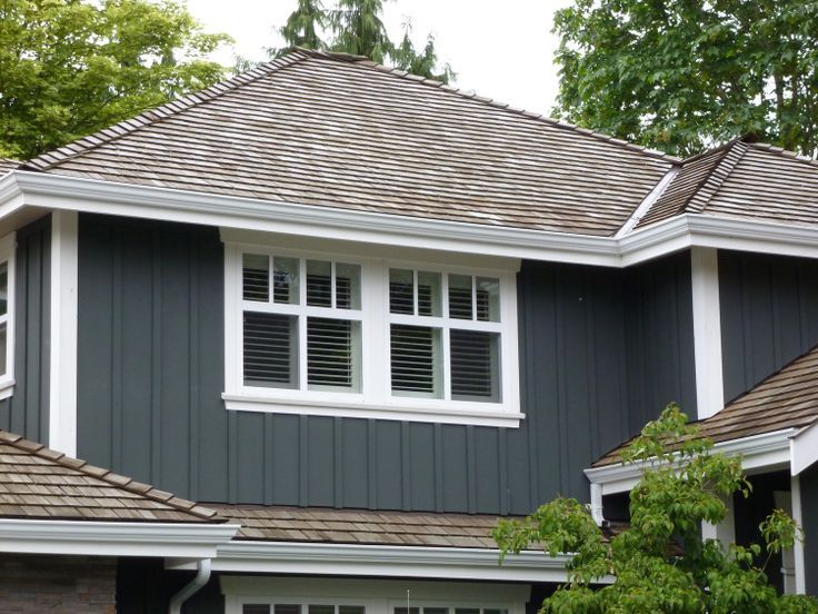 The architect chose hardiplank vertical board and batten for Hardie shake siding cost