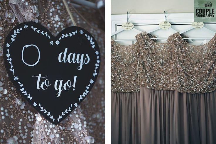 The beautiful beaded bridesmaids dresses. Weddings at Tulfarris Hotel & Golf Resort photographed by Couple Photography.